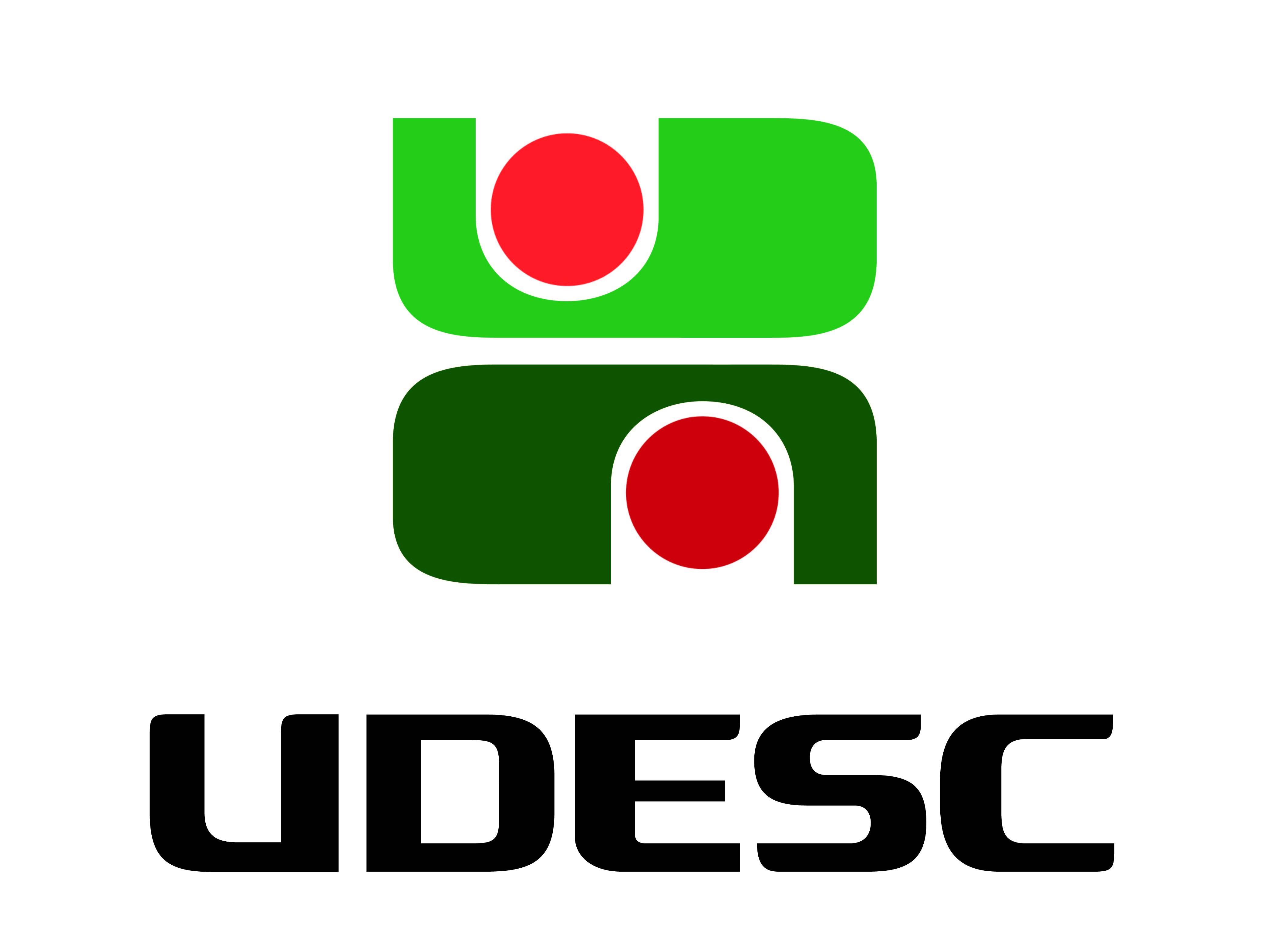 logo da UDESC - Universidade do Estado de Santa Catarina.